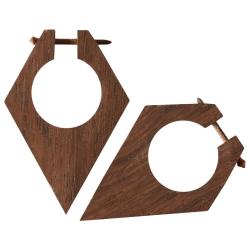 Holz Ohrstecker rautenförmig