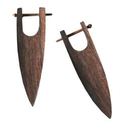 Holz Ohrstecker länglich