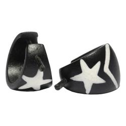 Holzohrstecker mit weißem Stern