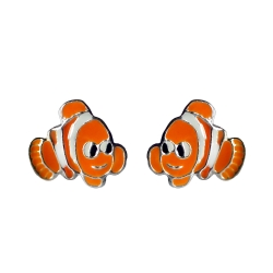 Ohrstecker Clownfish 925 Sterling Silber