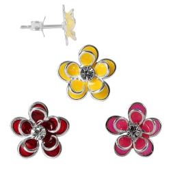 925 Sterling Silber Ohrstecker Seerosen in verschiedenen Farben