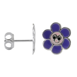 Ohrstecker 925 Sterling Silber lachende Blume