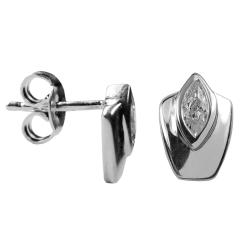 Ohrstecker Kisma 925 Silber mit ovalem Stein