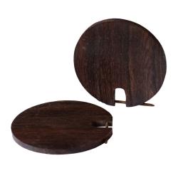 kreisförmiger Holzohrstecker braun