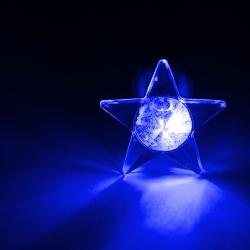 LED Ohrstecker Stern in blau