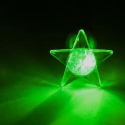 LED Ohrstecker Stern in grün