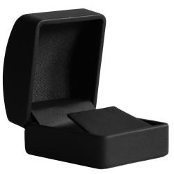 Ohrstecker Schmuckbox mit Lederoptik in schwarz