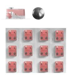 Erstohrstecker Set Chirurgenstahl - 12 Paar Sterile Ohrstecker Knopfform 3mm