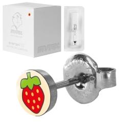 Studex Erstohrstecker Set - 12 Chirurgenstahl Ohrstecker mit Erdbeeren