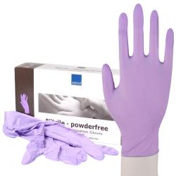 100 Abena Nitril Handschuhe Einmalhandschuhe Einweg Lila Größe XS-XL