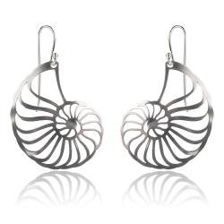 925 Sterling Silber Ohrhaken Ohrringe mit Nautilus