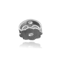 Ohrmutter mit Gewinde 925 Sterling Silber Butterfly-Verschluss 6 mm