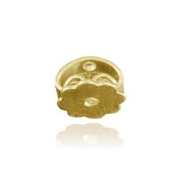 Ohrmutter mit Gewinde 750 Gelbgold 18ct Butterfly-Verschluss 6 mm