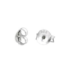 20 x Ohrmuttern 925 Sterling Silber Ohrsteckerverschlüsse