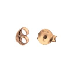 20 x Ohrmuttern 925 Sterling Silber rosévergoldet Ohrsteckerverschlüsse