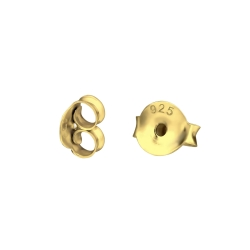 20 x Ohrmuttern 925 Sterling Silber gelbvergoldet Ohrsteckerverschlüsse