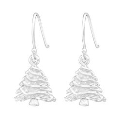 925 Sterling Silber Ohrhaken Ohrhänger mit Weihnachtsbaum