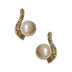 Ohrstecker Ladylike mit Perle und gefassten Zirkonia