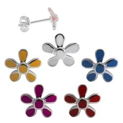Ohrstecker mit Blume in verschiedenen Farben