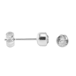 Ohrstecker Ohrringe Kugel diamantgehämmert 8,0 mm 1 Paar 925 Silber Unisex