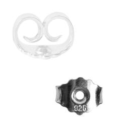 Ohrmutter 925er Silber Butterfly-Verschluss 6,5 mm