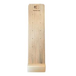 Hochwertiges Ohrstecker Display aus Holz für 6 Paar Ohrstecker