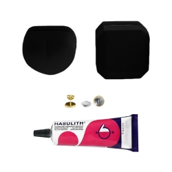 """Mein-Ohrstecker DIY Set """"Goldy"""" 925er Silber vergoldet 9-13mm mit schwarzer Schmuckbox"""