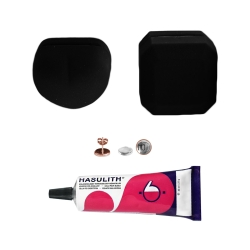 """Mein-Ohrstecker DIY Set """"Rosy"""" 925er Silber rosévergoldet 9-13mm mit schwarzer Schmuckbox"""