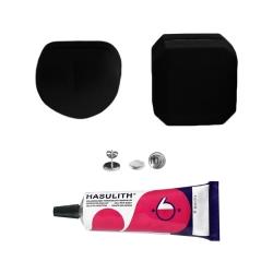 """Mein-Ohrstecker DIY Set """"Silvy"""" 925er Sterling Silber 9-13mm mit schwarzer Schmuckbox"""