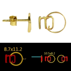 100 Paar Ohrstecker 925 Sterling Silber vergoldet mit Ihrem eigenem Logo