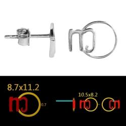 100 Paar Ohrstecker 925 Sterling Silber mit Ihrem eigenem Logo