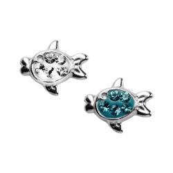 Silber Ohrstecker Fische