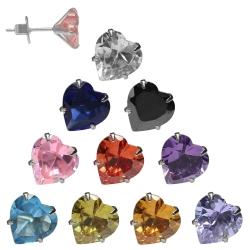Ohrstecker mit Herz in verschiedenen Farben und Größen