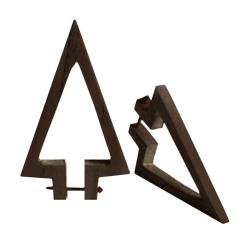 Ohrstecker Holz-Pfeil in dunkelbraun