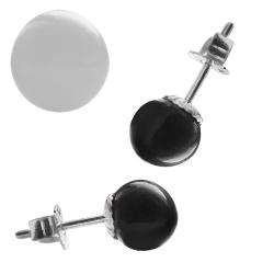 Ohrstecker Karacho Keramik 925 Sterling Silber in schwarz