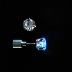 Ohrstecker mit LED in blau