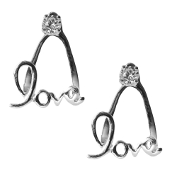 Ohrstecker 925 Sterling Silber Love Dangle Ear Jacket