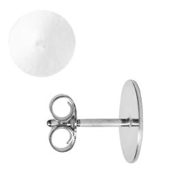 Ohrstecker Rohling mit Platte 925er Silber 3-10mm