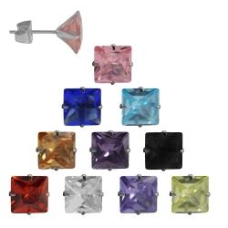 Ohrstecker mit Quadrat in verschiedenen Farben