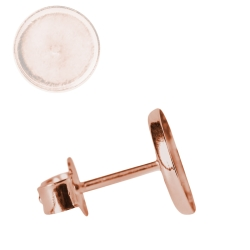 Ohrstecker Rohling 925er Silber rosévergoldet 14ct Cabochon Fassung 4-12mm