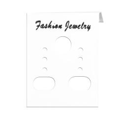 50 x Weiße Kunststoff Schmuckkarte für Ohrstecker Fashion Jewelry