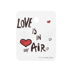 """5 x Schmuckkarte 925 Sterling Silber Ohrstecker """"Love is in the air"""""""