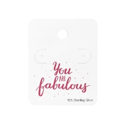 "5 x Schmuckkarte 925 Sterling Silber Ohrstecker ""You are fabulous"""