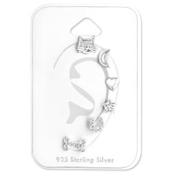 Ohrstecker Set 925 Sterling Silber mit verschiedenen Motiven