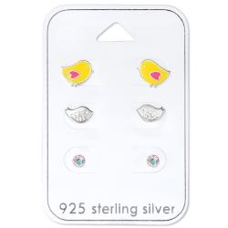 Ohrstecker Set 925 Sterling Silber Küken