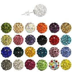 Shamballa Ohrstecker Silber in verschiedenen Farben