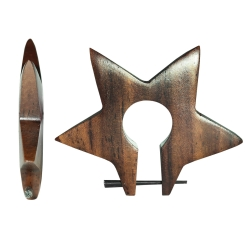 Holzohrstecker Stern in braun