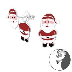 Ohrstecker Ear Jacket 925 Sterling Silber mit Weihnachtsmann