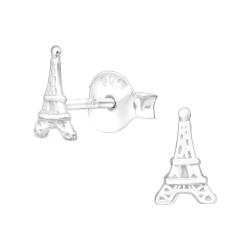 Paris Ohrstecker 925 Sterling Silber mit Eiffelturm