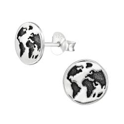 Ohrstecker 925 Sterling Silber mit Erde